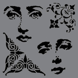 Andy Skinner Stencils masks Baroque